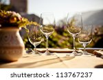 served table set at summer... | Shutterstock . vector #113767237
