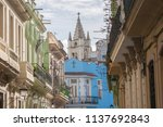 vintage architecture in old... | Shutterstock . vector #1137692843