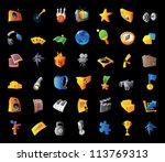 icons for entertainment ... | Shutterstock .eps vector #113769313