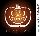 pumpkin. symbol of halloween.... | Shutterstock .eps vector #113769433