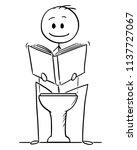 cartoon stick drawing... | Shutterstock .eps vector #1137727067