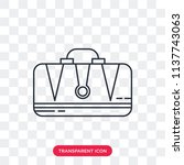 briefcase vector icon isolated...   Shutterstock .eps vector #1137743063
