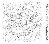 halloween concept. hand drawn... | Shutterstock .eps vector #1137744767
