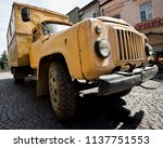 old truck. working for many... | Shutterstock . vector #1137751553