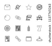 single icon. collection of 16...   Shutterstock .eps vector #1137765263