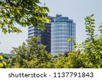 the dutch national bank behind... | Shutterstock . vector #1137791843