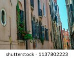old architecture in venice... | Shutterstock . vector #1137802223