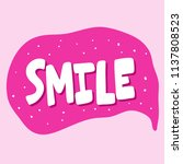 smile. sticker for social media ... | Shutterstock .eps vector #1137808523