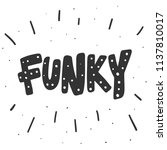 funky. sticker for social media ... | Shutterstock .eps vector #1137810017