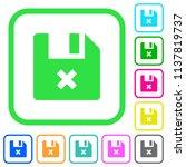 cancel file vivid colored flat... | Shutterstock .eps vector #1137819737