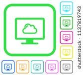 cloud computing vivid colored... | Shutterstock .eps vector #1137819743