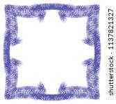 violet watercolor ornamented... | Shutterstock .eps vector #1137821327