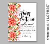 floral wedding invitation ... | Shutterstock .eps vector #1137848357