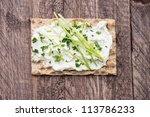 Crispbread With Creme Cheese...