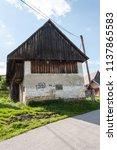 farm architecture in village... | Shutterstock . vector #1137865583