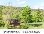 farm architecture in village... | Shutterstock . vector #1137865607