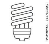 energy saving thin line icon ... | Shutterstock .eps vector #1137888557