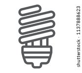 energy saving line icon ... | Shutterstock .eps vector #1137888623