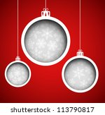 christmas balls  cut the paper .... | Shutterstock .eps vector #113790817