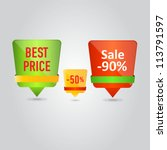 stickers with sale and best... | Shutterstock .eps vector #113791597