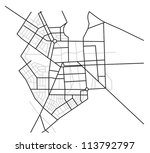 city map    vector scheme of... | Shutterstock .eps vector #113792797