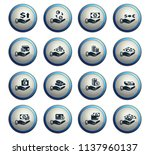 hand and money vector icons for ... | Shutterstock .eps vector #1137960137