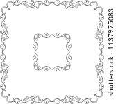 frame border decorative design... | Shutterstock .eps vector #1137975083