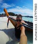 travel summer holiday concept... | Shutterstock . vector #1137979883
