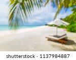beautiful blurry beach. summer... | Shutterstock . vector #1137984887