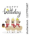 happy birthday greeting card... | Shutterstock .eps vector #1137992687