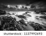 long exposure. stormy skies and ... | Shutterstock . vector #1137992693