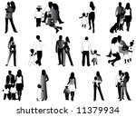 family silhouettes   Shutterstock .eps vector #11379934