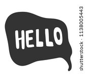 hello. sticker for social media ... | Shutterstock .eps vector #1138005443