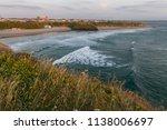 small costal beach town of... | Shutterstock . vector #1138006697