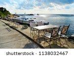 cozy restaurant with wooden... | Shutterstock . vector #1138032467