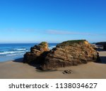 landscape in as catedrais beach ... | Shutterstock . vector #1138034627