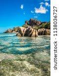 tropical island beach  source d'... | Shutterstock . vector #1138036727