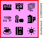 simple icon set of camera... | Shutterstock .eps vector #1138052603