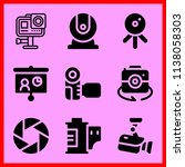 simple icon set of camera... | Shutterstock .eps vector #1138058303