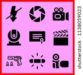 simple icon set of camera... | Shutterstock .eps vector #1138059023
