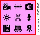 simple icon set of camera... | Shutterstock .eps vector #1138059203