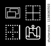 interface related set of 4... | Shutterstock .eps vector #1138080503