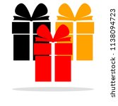 gift boxes with ribbon  bow...   Shutterstock .eps vector #1138094723