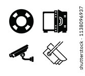filled security icon set such... | Shutterstock .eps vector #1138096937