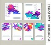 abstract gradient combination... | Shutterstock .eps vector #1138104587
