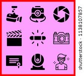 simple icon set of camera... | Shutterstock .eps vector #1138107857