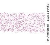 floral pattern. vector...   Shutterstock .eps vector #1138114463