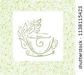 green tea. vector illustration   Shutterstock .eps vector #1138115423