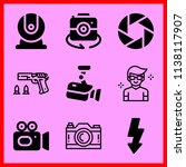 simple icon set of camera... | Shutterstock .eps vector #1138117907