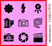 simple icon set of camera... | Shutterstock .eps vector #1138117973